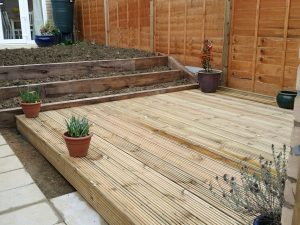 Decked and Sleeper garden
