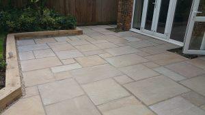 Indian sandstone patio 3
