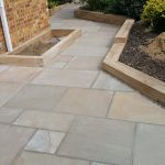 Indian sandstone patio 4