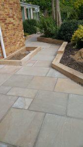 Indian sandstone patio 4