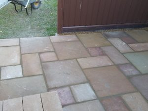 Indian sandstone patio 6