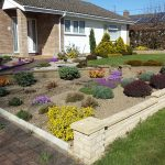 Graveled garden and planting