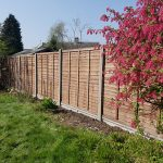 Panel Fencing With Concrete Posts