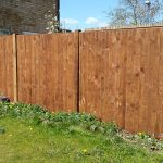 closeboarded panel wooden posts
